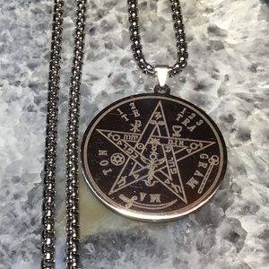 Tetragrammaton pentagram necklace